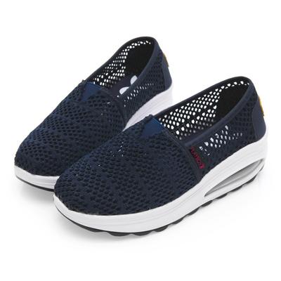 PLAYBOY 透氣縷空氣墊休閒鞋-藍-Y5272FF