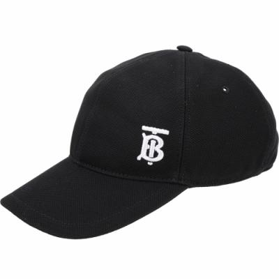 BURBERRY TB 字母刺繡棒球帽(黑色)
