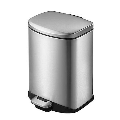 EKO迪萊緩降靜音不鏽鋼垃圾桶 6L /3色