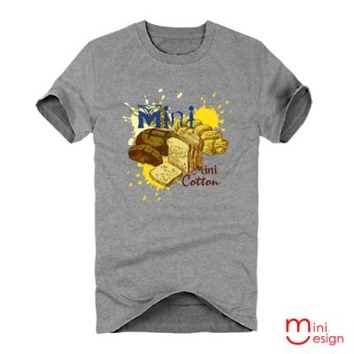 手繪風食物插畫潮流設計短T 三色-Minidesign