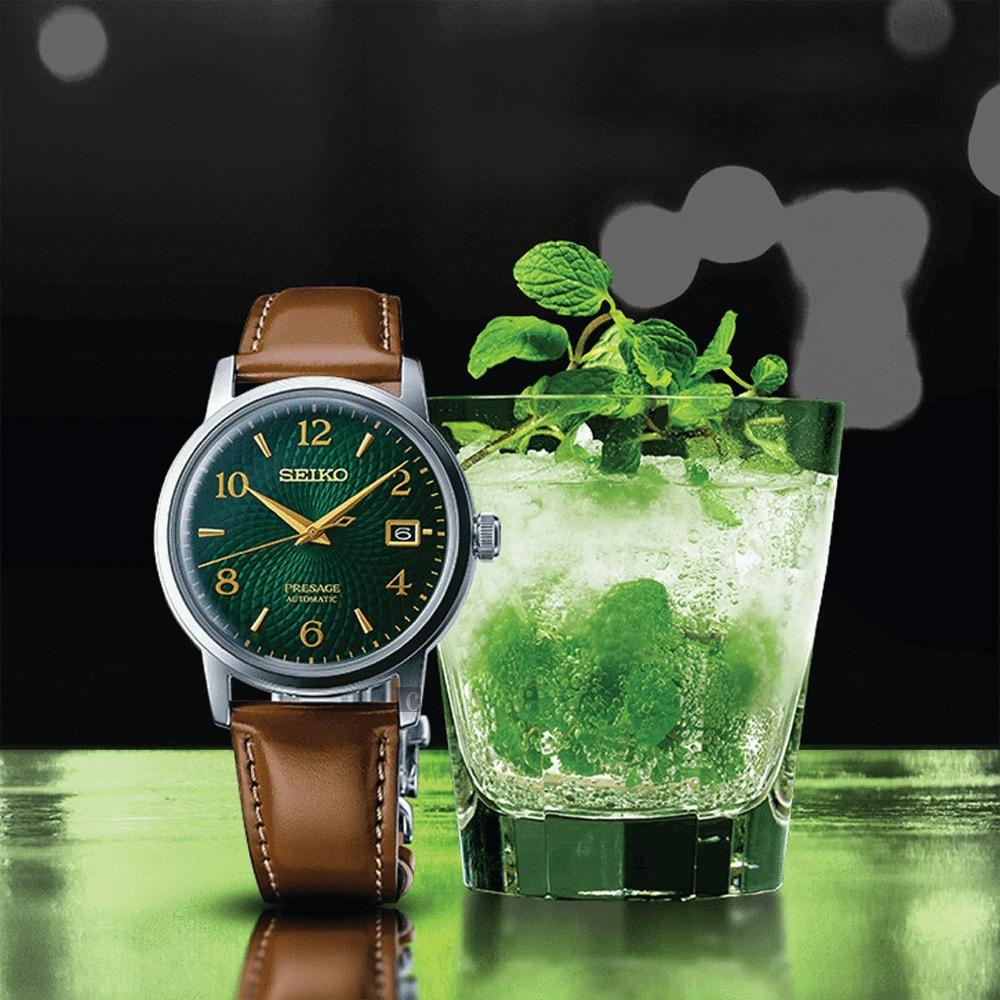 SEIKO精工 Presage 調酒師機械錶(SRPE45J1/4R35-04A0G)-38.5mm
