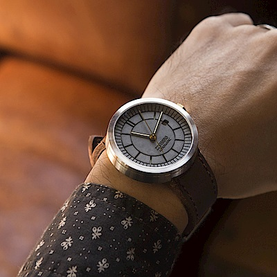 【22】分格水泥機械錶-新經典(Concrete Sector Watch Automatic - New Classic Edition/43mm)