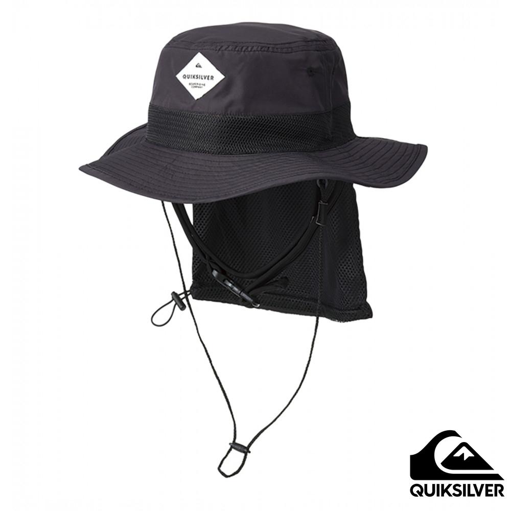【QUIKSILVER】UV WATER HAT 可折疊戶外運動防曬帽 黑