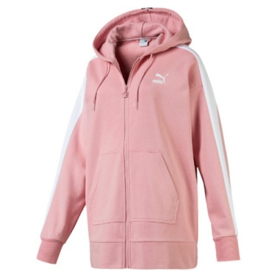 PUMA 流行系列TAPE 女連帽外套 粉紅色-59520214