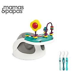 【Mamas & Papas】二合一育成椅v2含玩樂盤-霧都灰