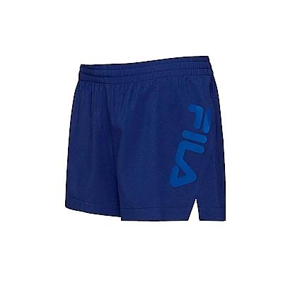 FILA 女抗UV平織短褲-藍紫 5SHT-1326-DB