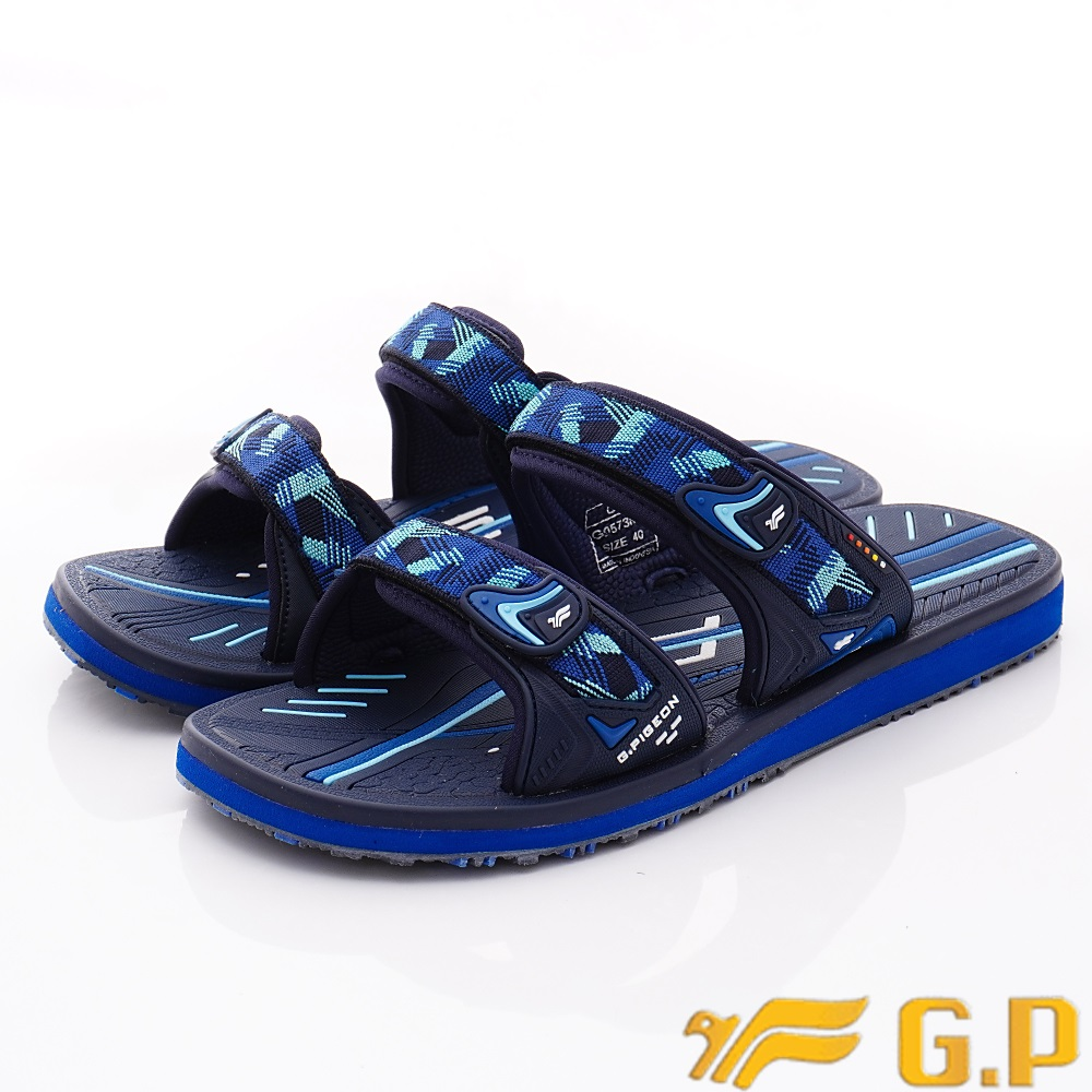GP時尚涼拖  時尚織帶拖鞋款-ZE573M-20藍(男段)