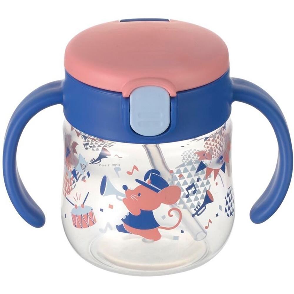 【Richell利其爾】二代  鼠樂團吸管水杯150ml