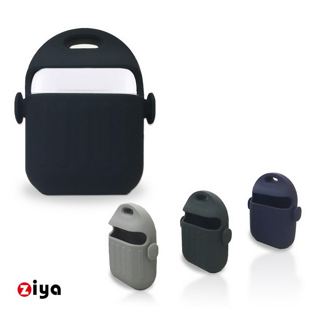 [ZIYA] Apple AirPods 矽膠保護套與矽膠防丟繩組合 可愛機器人款