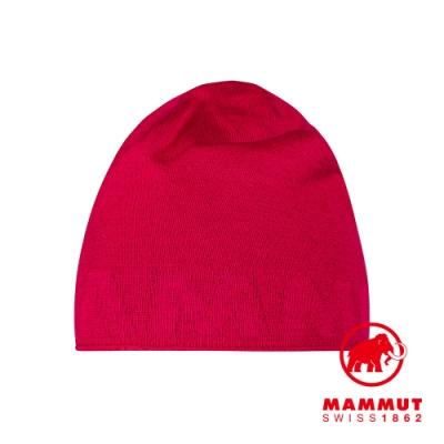 【Mammut 長毛象】Mammut Logo Beanie 正反兩用LOGO保暖羊毛帽 夕陽紅/火龍果 #1191-04891