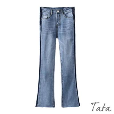 九分微喇叭牛仔褲 TATA