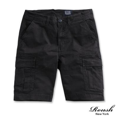 Roush 美式雙口袋高磅數水洗短褲(3色)