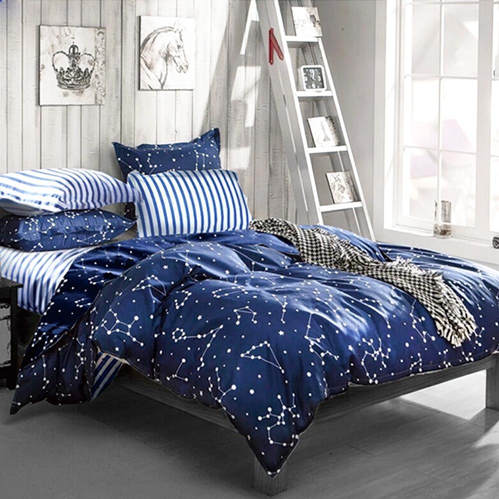 3-HO 雪紡棉 單人床包/枕套 二件組 流星雨