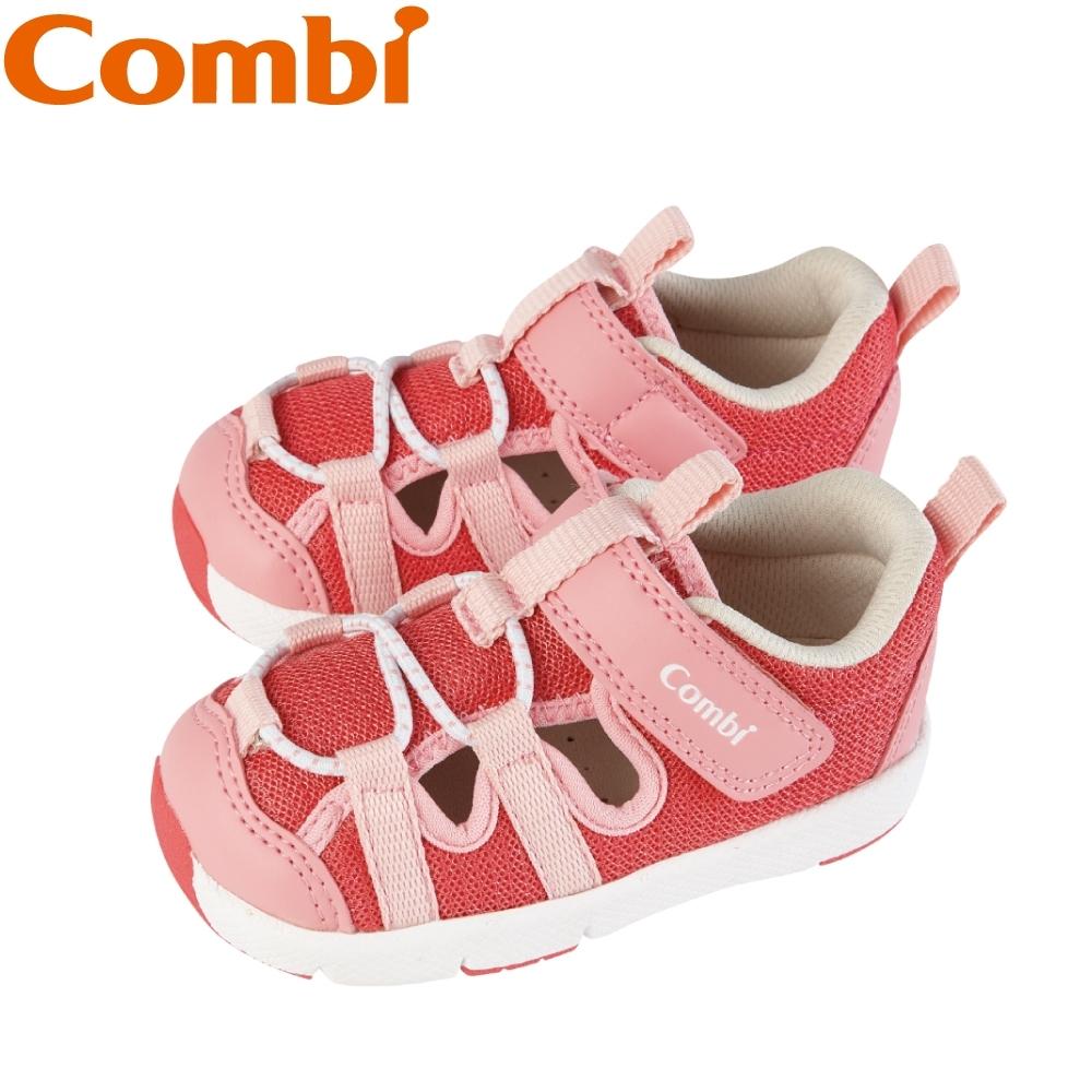 日本Combi童鞋 太空漫步幼兒機能涼鞋-流星粉
