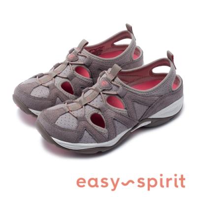 Easy Spirit-seEARTHEN 多彩多色 後跟鏤空撞色涼休閒鞋-深杏