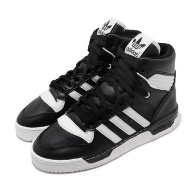 adidas 休閒鞋 Rivalry 高筒 皮革 女鞋 海外限定 愛迪達 三葉草 穿搭 黑 白 BD8021