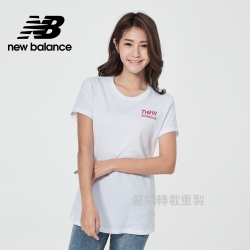 【New Balance】左胸品牌短袖T_女性_白色_WT11806WT