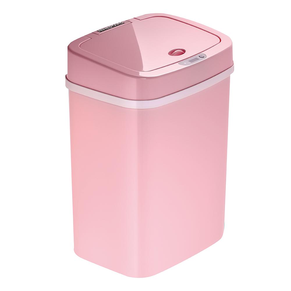 美國NINESTARS時尚感應垃圾桶12L 櫻花粉(廚衛系列)