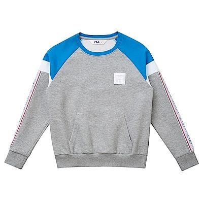 FILA KIDS #東京企劃原宿篇 童圓領T恤-藍 1TES-8421-BU