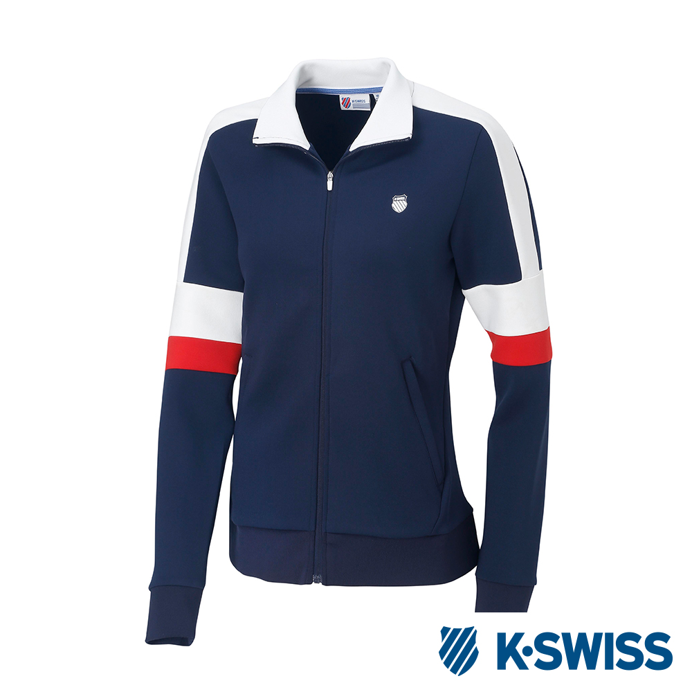 K-SWISS Tracksuit Zip Up女運動外套-女-藍