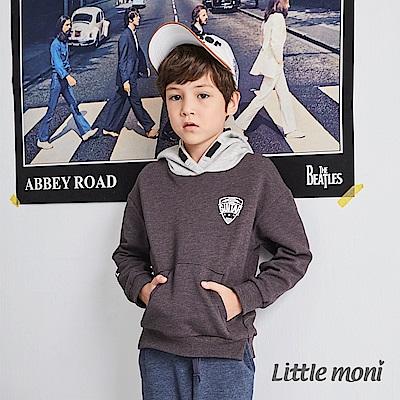 Little moni 連帽撞色刷毛運動衫(共2色)