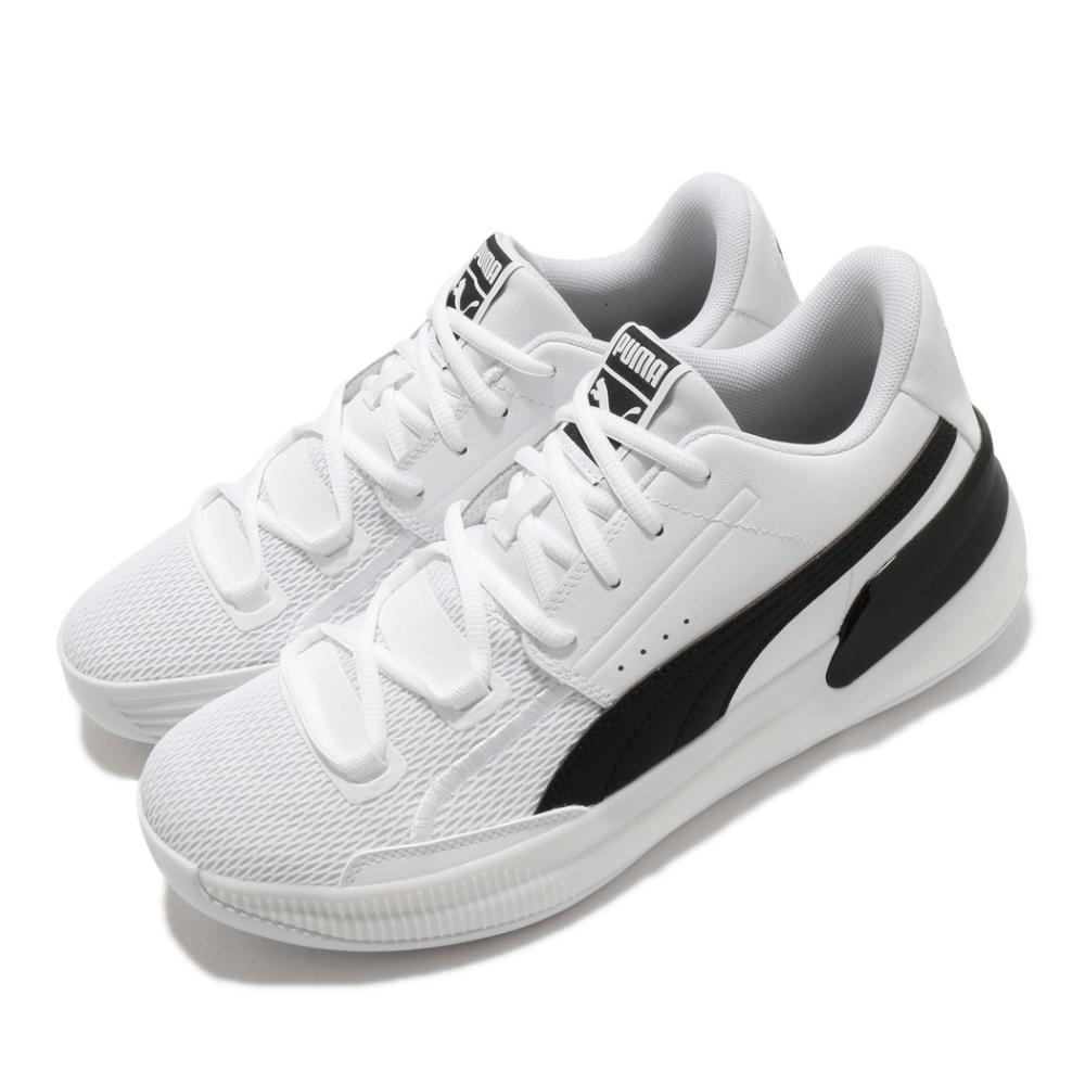 Puma 籃球鞋 Clyde Hardwood Team 男鞋 低筒 避震 包覆 運動 球鞋 穿搭 白 黑 19445401