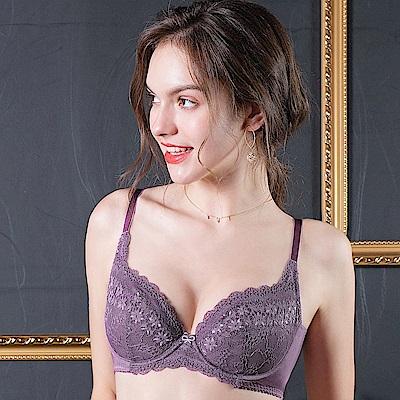 EASY SHOP-柔情蔓戀 大罩杯B-E罩成套內衣(人氣紫)