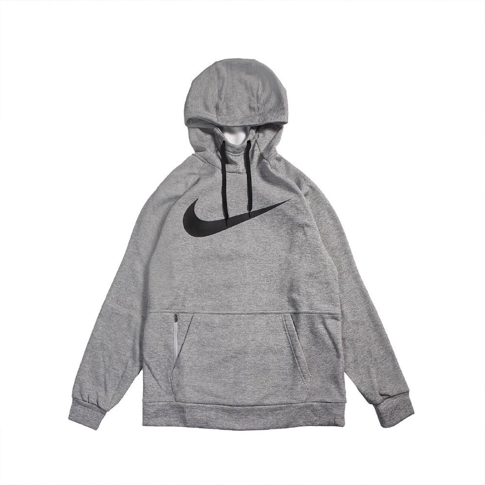 Nike 帽T Therma Hoodie 運動休閒 男款 連帽上衣 袋鼠口袋 穿搭推薦 基本款 灰 黑 CU6240063