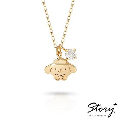STORY故事銀飾-布丁狗與HelloKitty 誕生石純銀項鍊