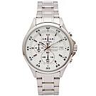 SEIKO  競速時尚感的三眼計時手錶(SKS623P1)-白面X銀色/43mm