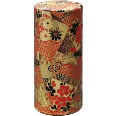 《Tokyo Design》日式茶葉收納罐(喜慶花紅)