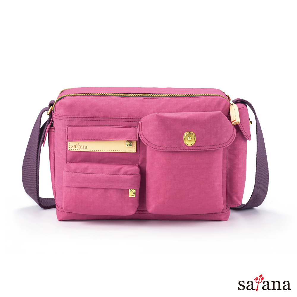 satana - Soldier 簡單生活斜肩包 - 霧紫紅