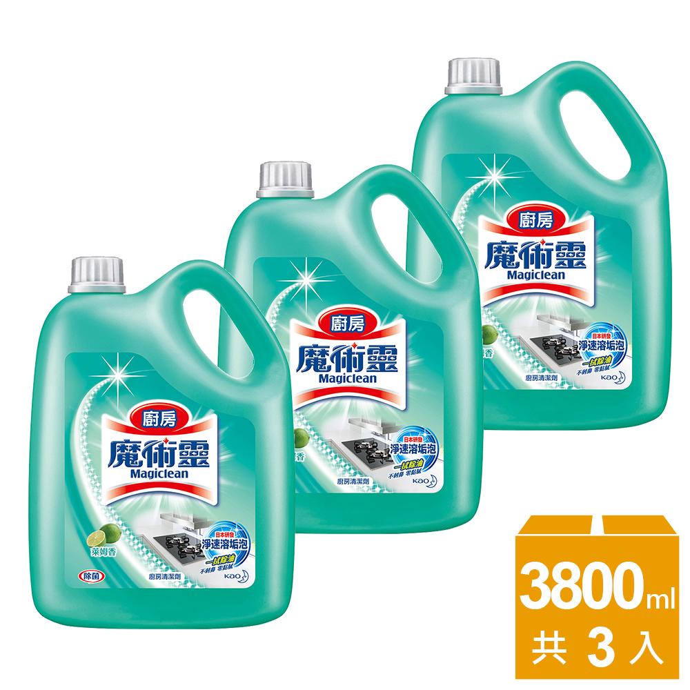 魔術靈 廚房清潔劑 量販瓶3800mlX3入/箱購