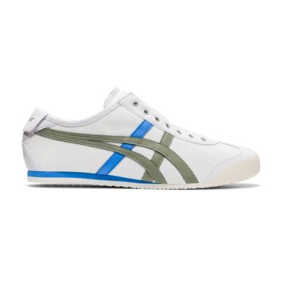 OT鬼塚虎-MEXICO 66 SLIP-ON 休閒鞋 男女(白底藍綠邊)
