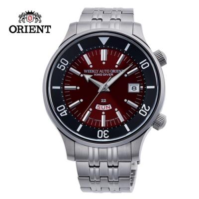 ORIENT 東方錶 KING DIVER 系列 70週年復刻版機械錶 鋼帶款 紅色 RA-AA0D02R - 43.8mm