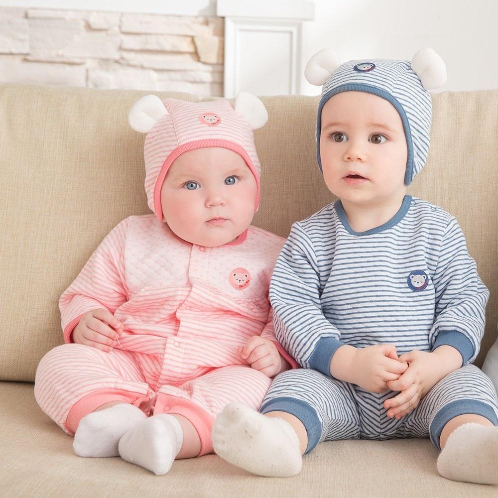 奇哥 緹花包紗嬰兒長褲 6-36個月(2色選擇)