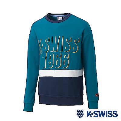 K-SWISS Round Sweat Shirts圓領長袖上衣-男-綠