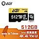 AGI 亞奇雷 microSDXC UHS-I A2 V30 512G 記憶卡 附轉卡(Made in Taiwan) product thumbnail 1