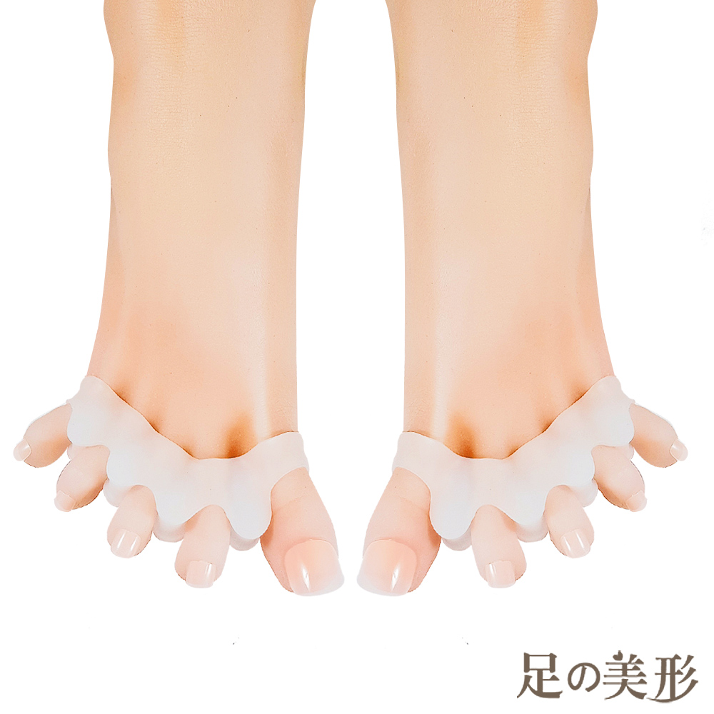 足的美形 頂級矽膠五指分趾套 (2雙)