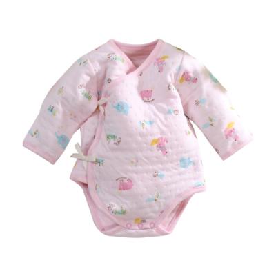 台灣製三層棉厚款純棉護手連身衣 b0212 魔法Baby