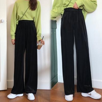 【韓國K.W.】(預購)狂賣千件簡約休閒寬褲-2色