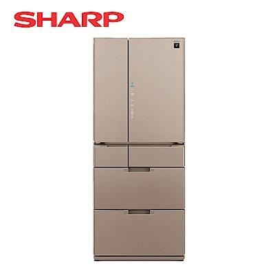 SHARP夏普 601L 1級變頻6門電冰箱 SJ-GF60BT-T 星鑽棕