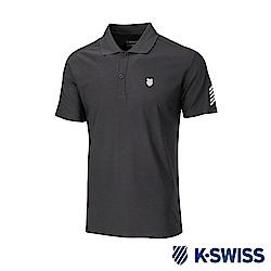 K-SWISS PF Solid Polo排汗POLO衫-男-黑