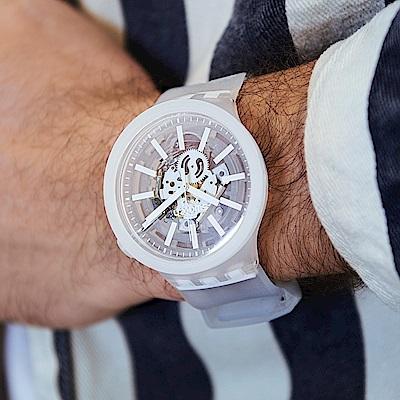 Swatch BIG BOLD系列手錶 WHITEINJELLY-47mm