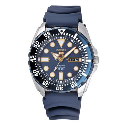SEIKO 勇者無畏機械錶(SRP605J2)-藍/42mm