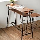 完美主義 木紋雙層吧檯桌/吧台桌/餐桌(2色)
