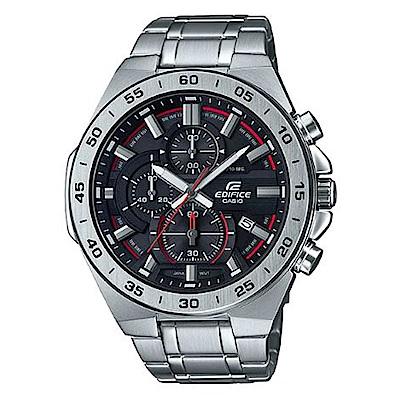 CASIO 絕世悍將賽車設計風格不鏽鋼腕錶-黑面(EFR-564D-1A)/47mm