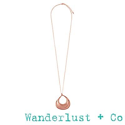 Wanderlust+Co水波項鍊 - 玫瑰金色