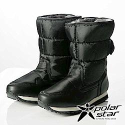【PolarStar】女保暖雪鞋『黑』P13621 冰爪 內厚鋪毛 防滑鞋底