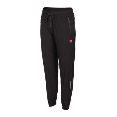 FIRESTAR 女 彈性平織束口長褲 黑螢光粉紅
